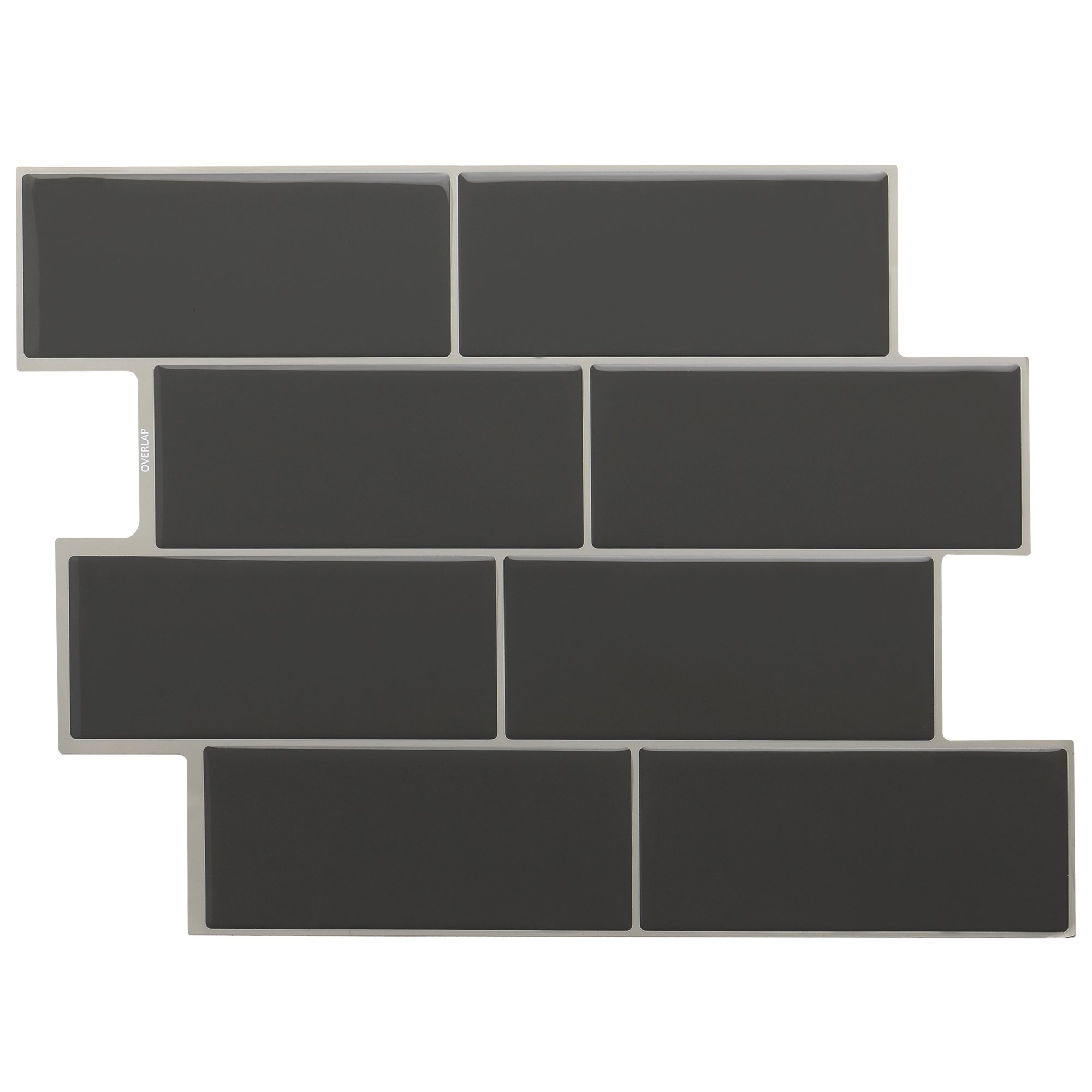 STICKGOO Peel and Stick Subway Tile, Stick on Tiles Backsplash for Kitchen & Bathroom 6 Sheet (Dark Grey) by STICKGOO