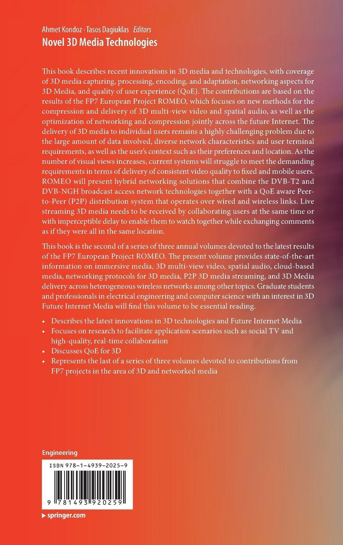 Novel 3D Media Technologies by Springer