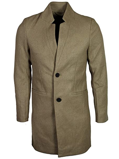 wide range top design popular brand Only & Sons New Mens Max Wool Trench Coat: Amazon.co.uk ...