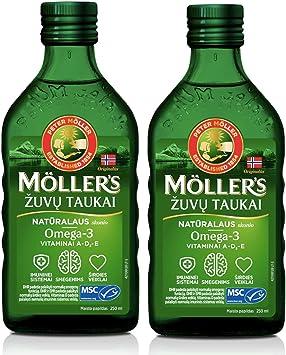 Aceite de Hígado de Bacalao de Pescado de Moller con Omega 3, Vitaminas A, D y