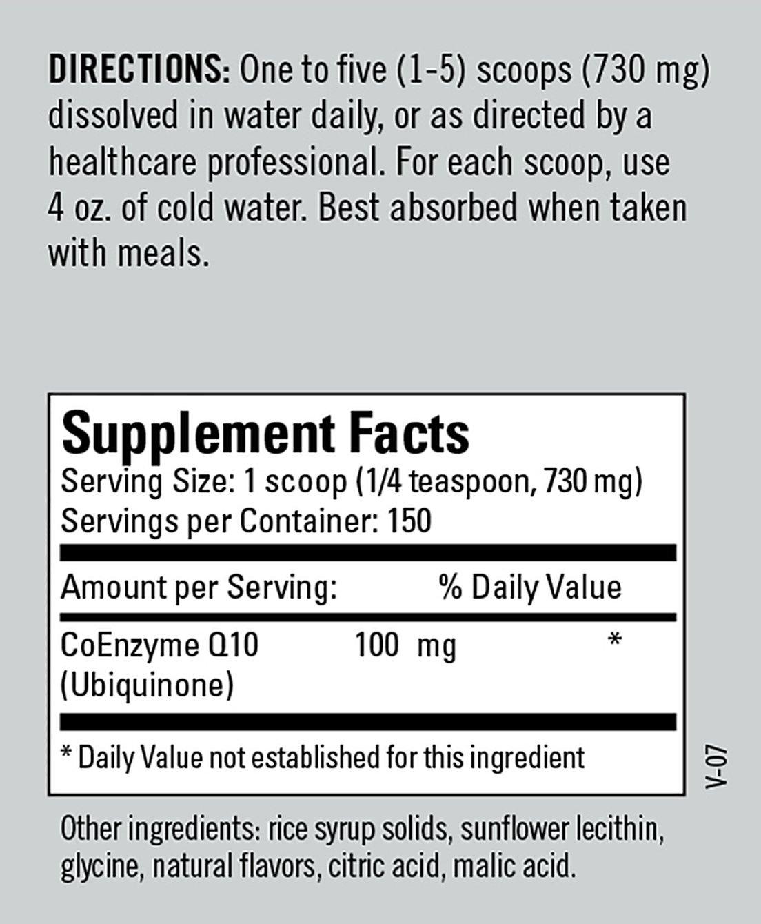 Amazon.com: metabólico Mantenimiento – CoQ10 Powder – Apoyo ...