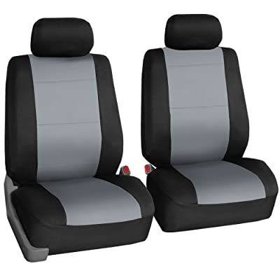 FH Group FB083GRAY102 Gray-Half Neoprene Bucket Seat Cover Airbag Compatible: Automotive
