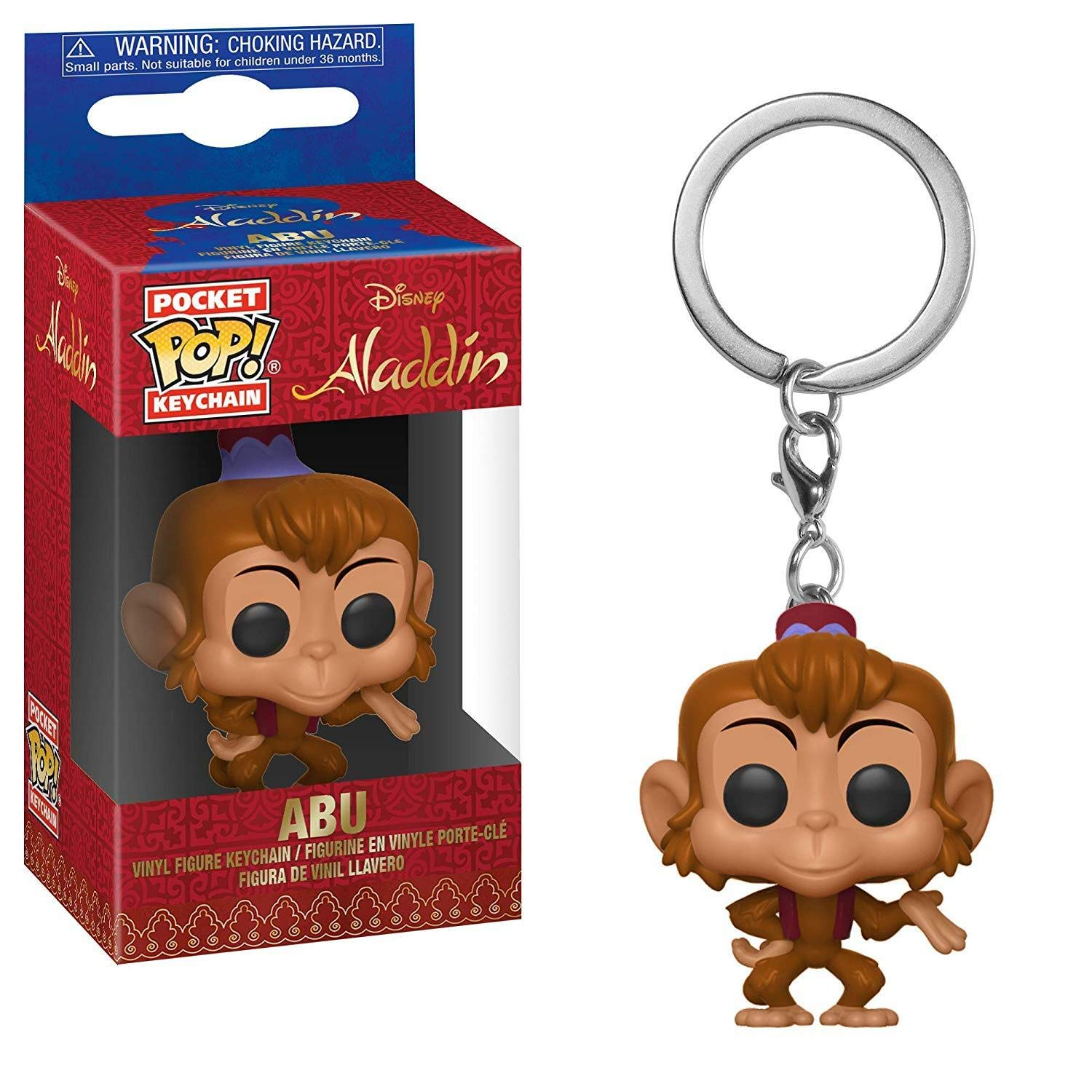 Amazon.com: Funko Pop! Llavero: Aladdin - Abu: Toys & Games