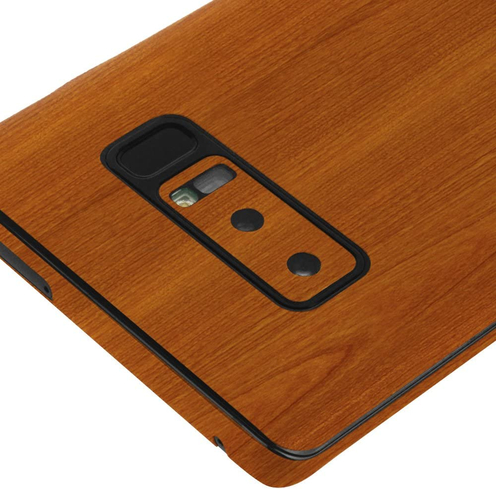 Skinomi Light Wood Full Body Skin Compatible with Samsung Galaxy Note 8 Full Coverage TechSkin with Anti-Bubble Clear Film Screen Protector