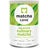 Matcha Love Culinary Matcha 3.5 Ounce Finely Milled Green Tea Leaves, Japanese Style Matcha Powder