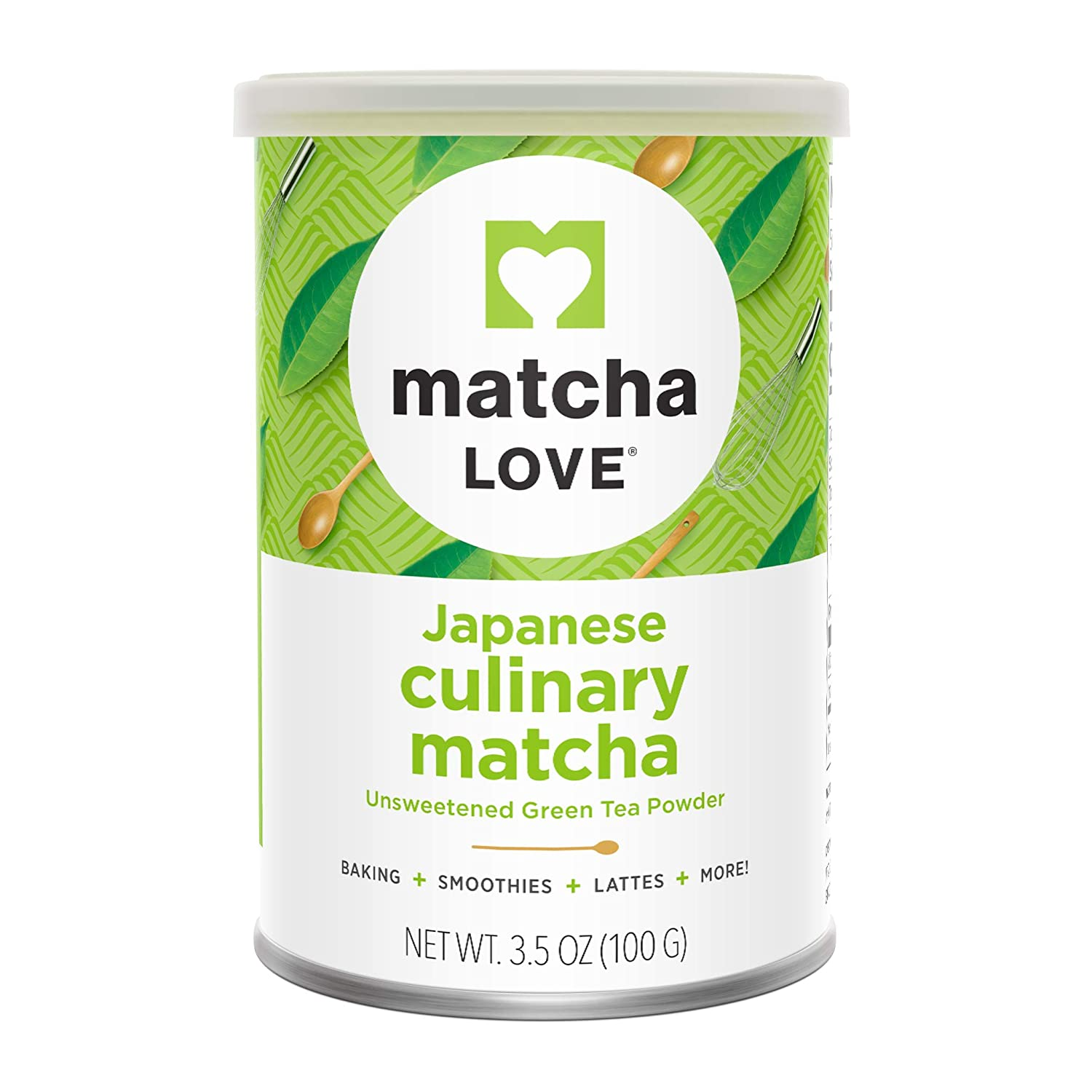 Matcha Love Culinary Matcha 3.5 Ounce Finely Milled Green Tea Leaves, Japanese Style Matcha Powder : Grocery & Gourmet Food