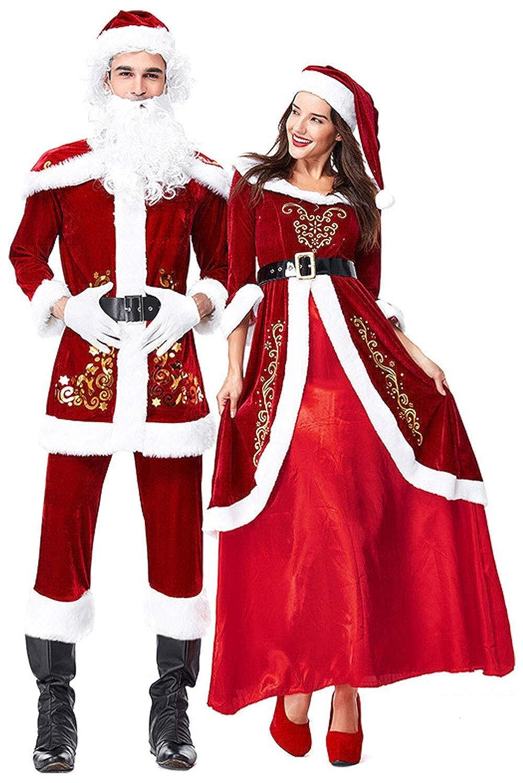 Amazon.com: Checkin - Disfraz de Papá Noel de terciopelo ...