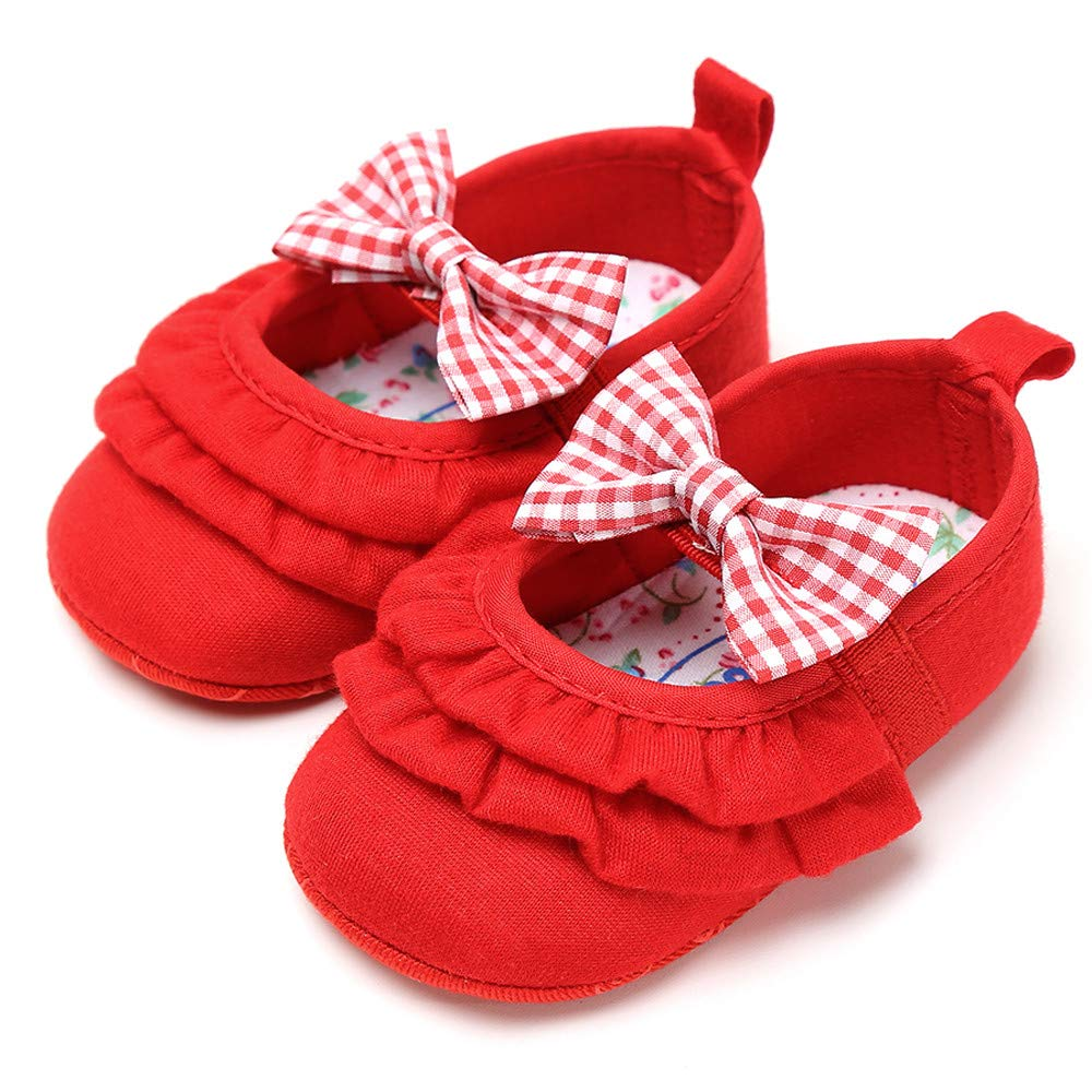 Voberry- Fashion Baby Girl Cotton Bowknot Shoes Toddler First Walkers Kids Shoes