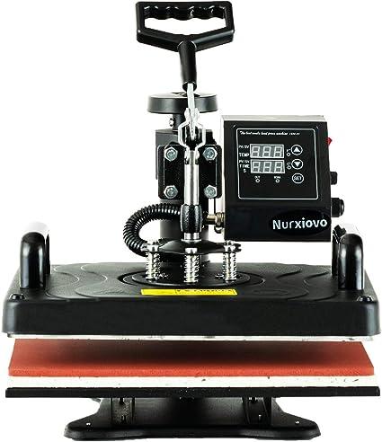 8in1 Heat Press Transfer Machine T-shirt Swing Away Printing Yellow Handle