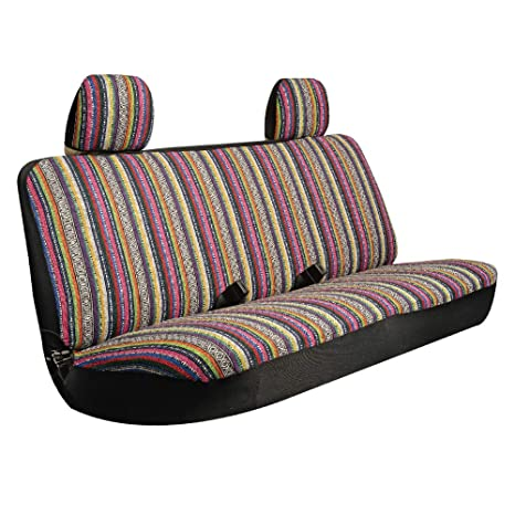 Super Karrfun Bench Seat Cover For Pick Up Suv And Car With Large Bench Seats Stripe Tweed Fabric One Bench Cover And Two Headrest Covers Caraccident5 Cool Chair Designs And Ideas Caraccident5Info