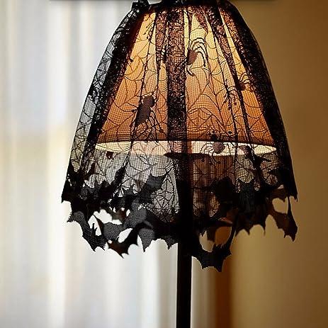 Amazon.com: Tollbuy Halloween Lamp Shade Fireplace Scarf Spider ...