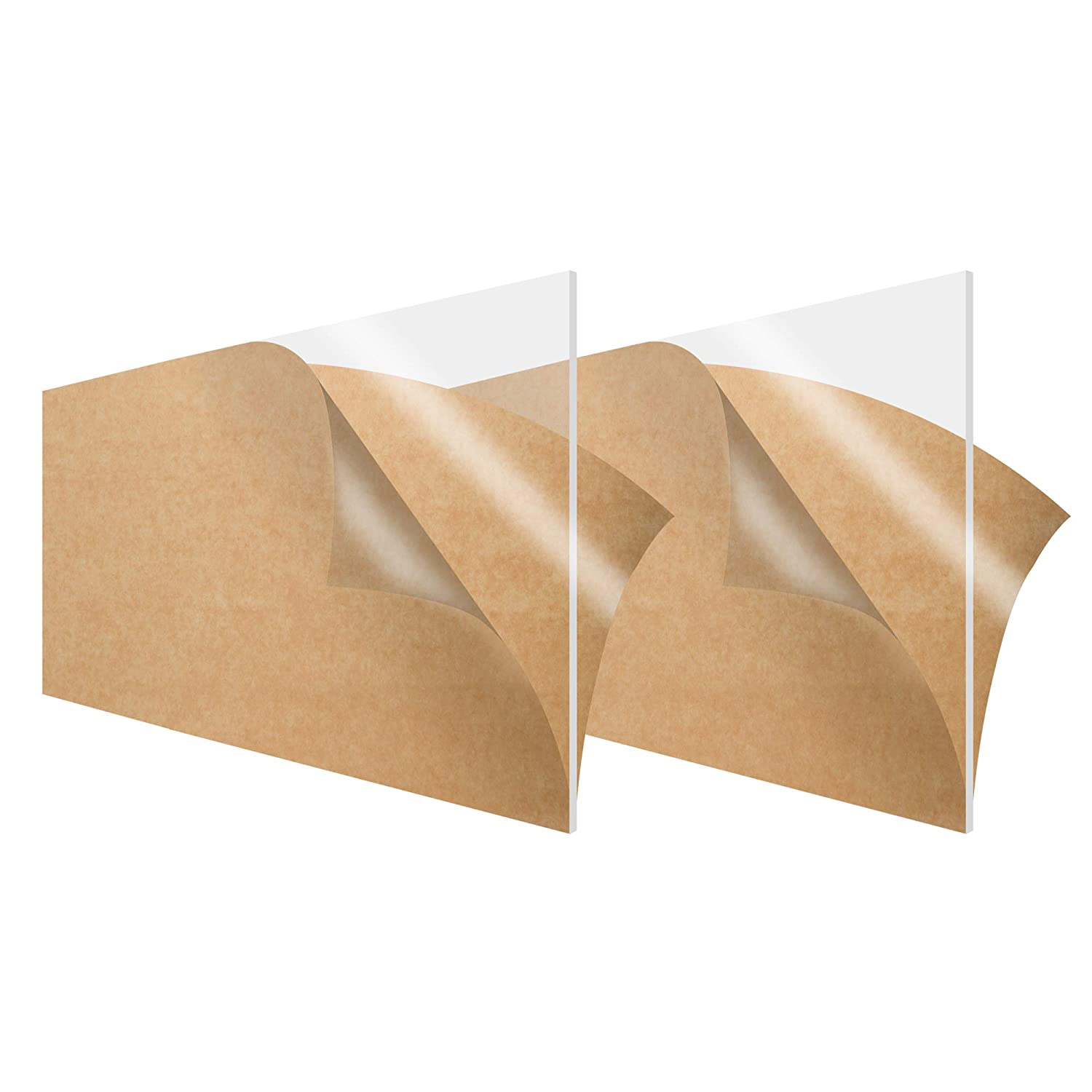 """3/"""" x 3/"""" Clear Acrylic Sheet Pack of 5 Square Plexiglass Tiles for DIY Projects"""