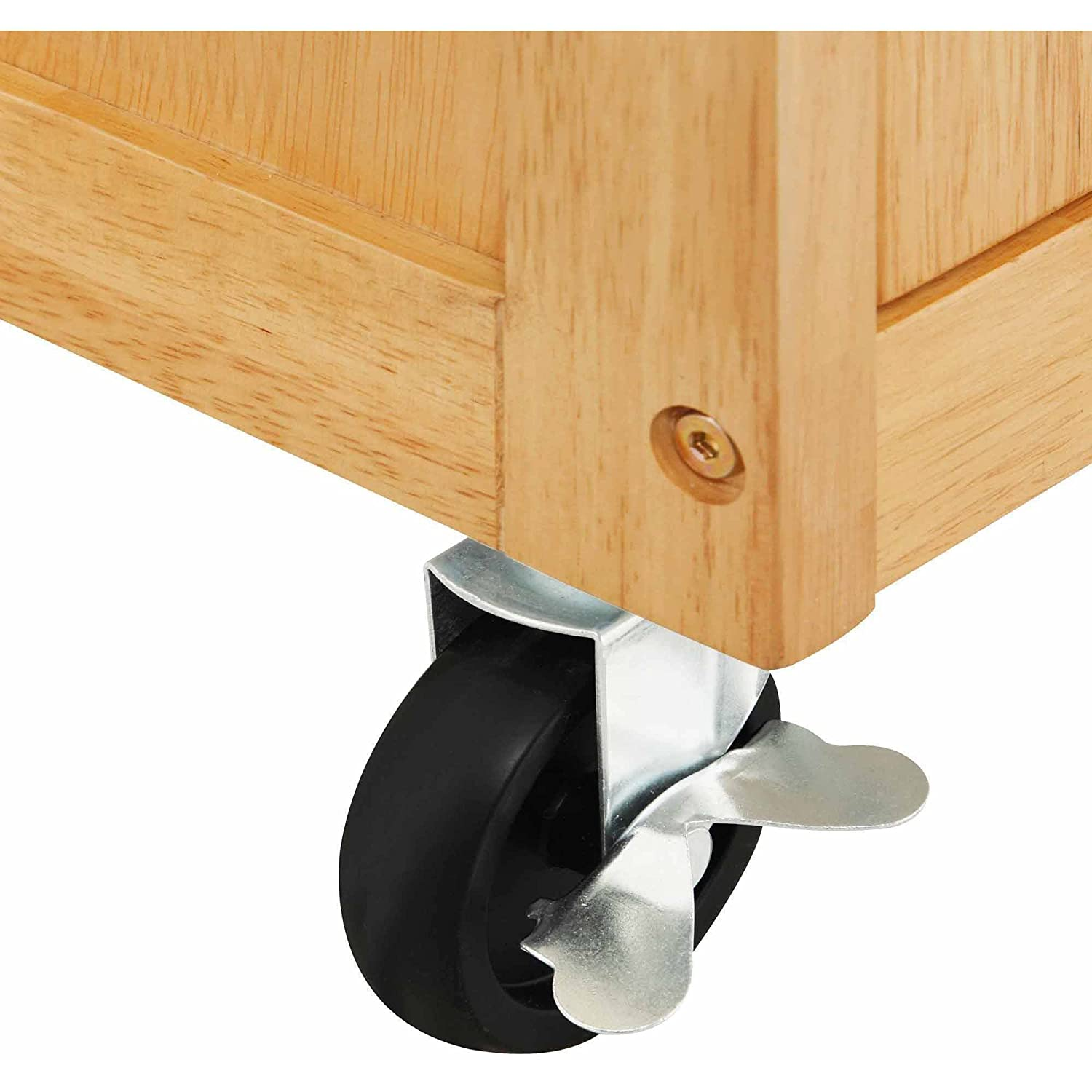 Kitchen Islands and Carts Cabinets and Storage Solutions With Drawers Towel Rack Solid Wood Natural Finish
