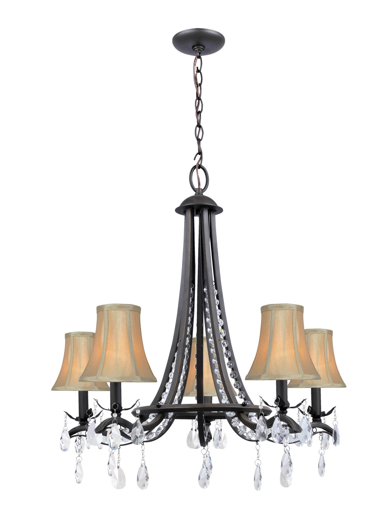 Lite Source C71285 Macy 5-Light Chandelier, Dark Bronze by Lite Source