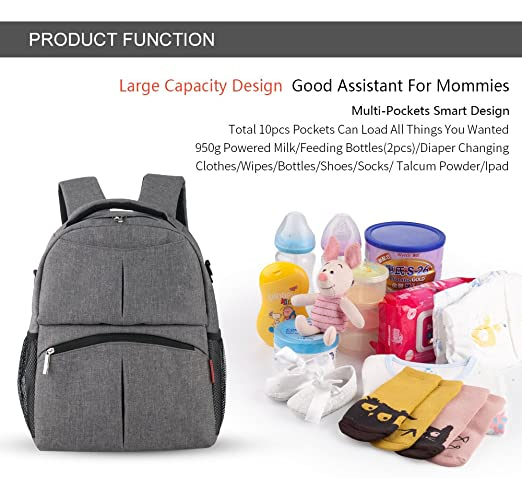Amazon.com : Diaper Bag Backpack Organizer Baby Backpack Multi-Function Waterproof Travel Backpack Nappy Bags for Baby Care Large Capacity, Multiple Pockets ...