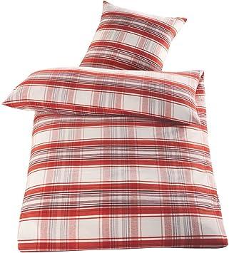 Meradiso Edelflanell Bettwäsche 100 Baumwolle 135 X 200 Cm Rot
