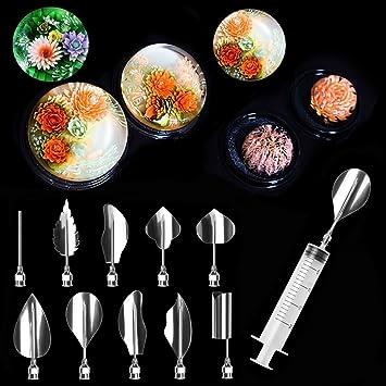 Espeedy Herramientas de decoración de flores de jalea,11 Unids / set Gelatina 3D Gelatina