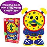 The Learning Journey Telly The Teaching Time Clock, Electronic Analog & Digital Time Telling Aid with Two Quiz Modes & Night Light,Multi