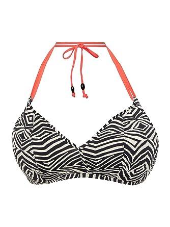 Haut de maillot de bain Freya Balconnet Zulu Noir Zebra: Amazon.es ...