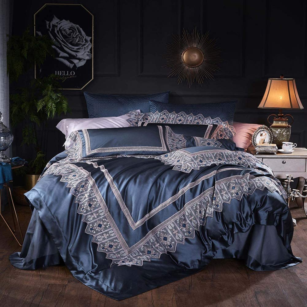 T-200 LUXURIOUS 100/% COTTON LACE DUVET COVER SETS