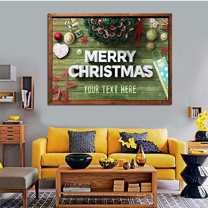 XWArtpic Cartel nórdico árbol de Navidad muñeco de Nieve ...