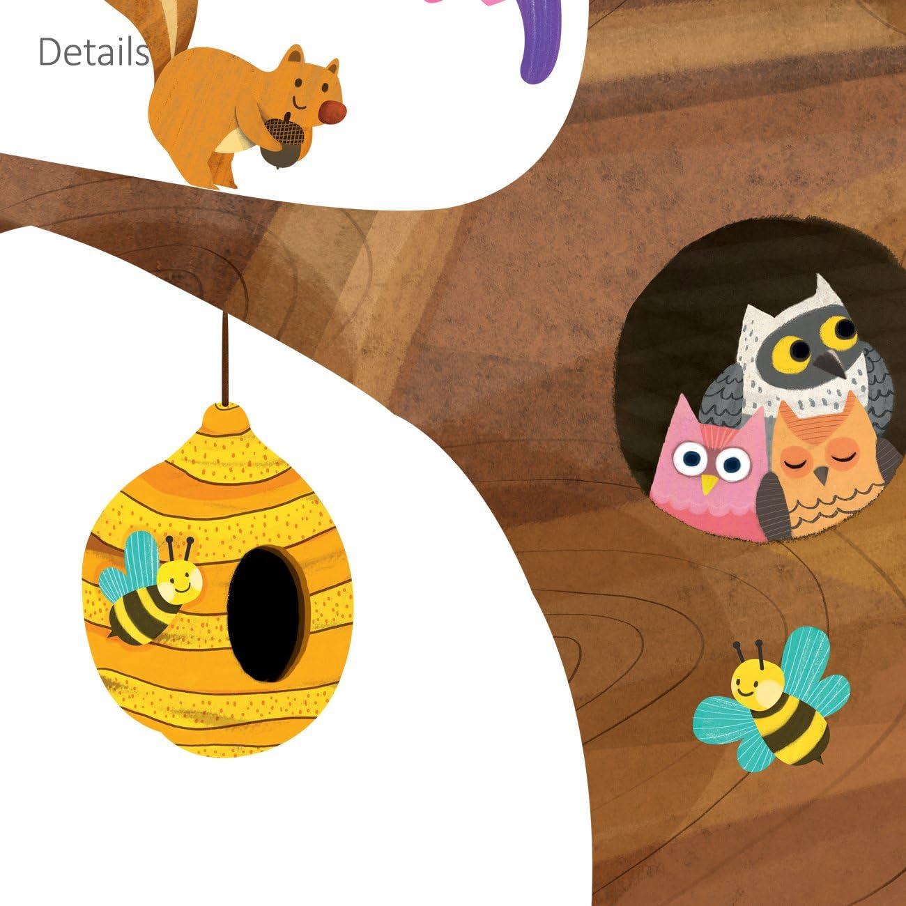 DEB DECOWALL DL-1709 /Árbol Gigante Animales Vinilo Pegatinas Decorativas Adhesiva Pared Dormitorio Sal/ón Guarder/ía Habitaci/ón Infantiles Ni/ños Beb/és