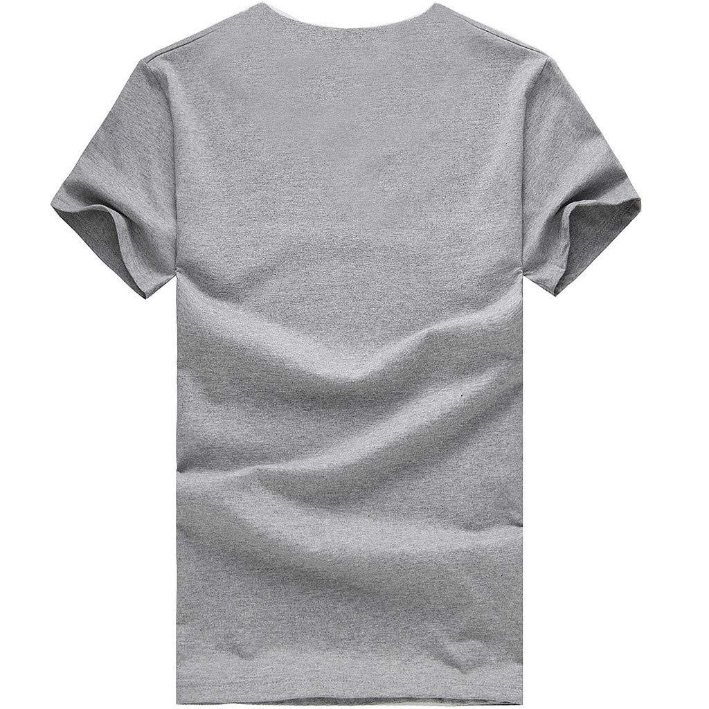 minjiSF Women's Summer QUTE Cat Fish Print Tee Short Sleeve Round Neck Loose Casual Blouse T-Shirts Plus Size Gray by minjiSF Women T-shirts (Image #2)