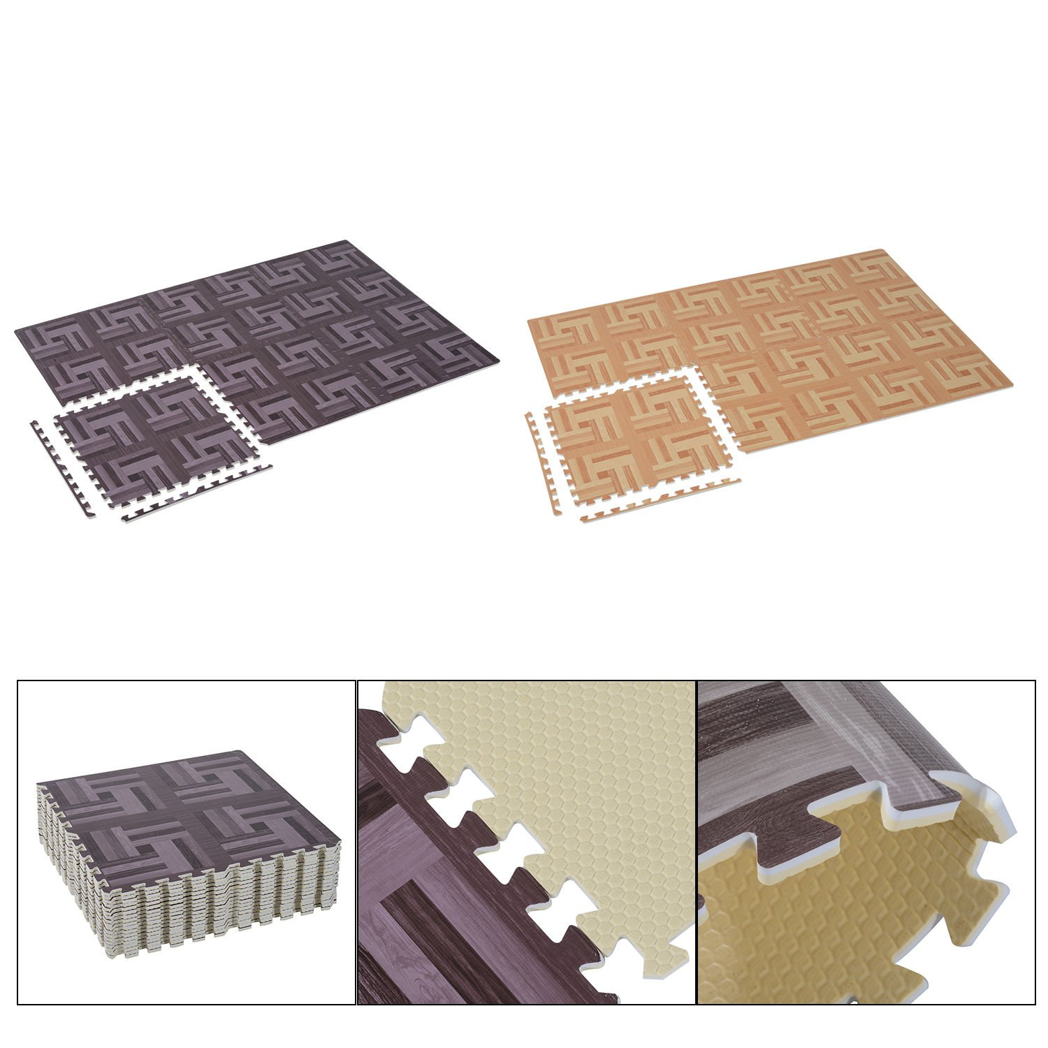 Generic DYHP-A10-CODE-4546-CLASS-8-- Gym Mats Tiles Work Gym Wood Grain Interlocking or Puzz EVA Foam locki Floor Puzzle rain In --NV_1008004546-CXL-US10