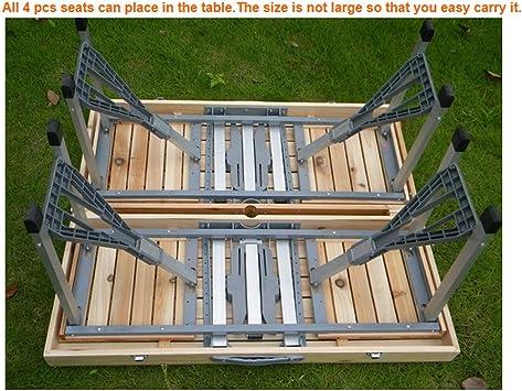 LOHOME (TM) portátil plegable mesa de madera al aire libre Camp ...