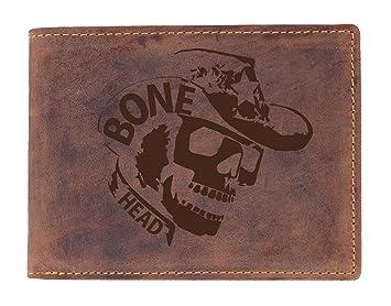 39689ea5bbb83 Greenburry Vintage Geldbörse mit Totenkopf - Bikerbörse mit Skull Motiv -  Skull-Geldbeutel für Herren