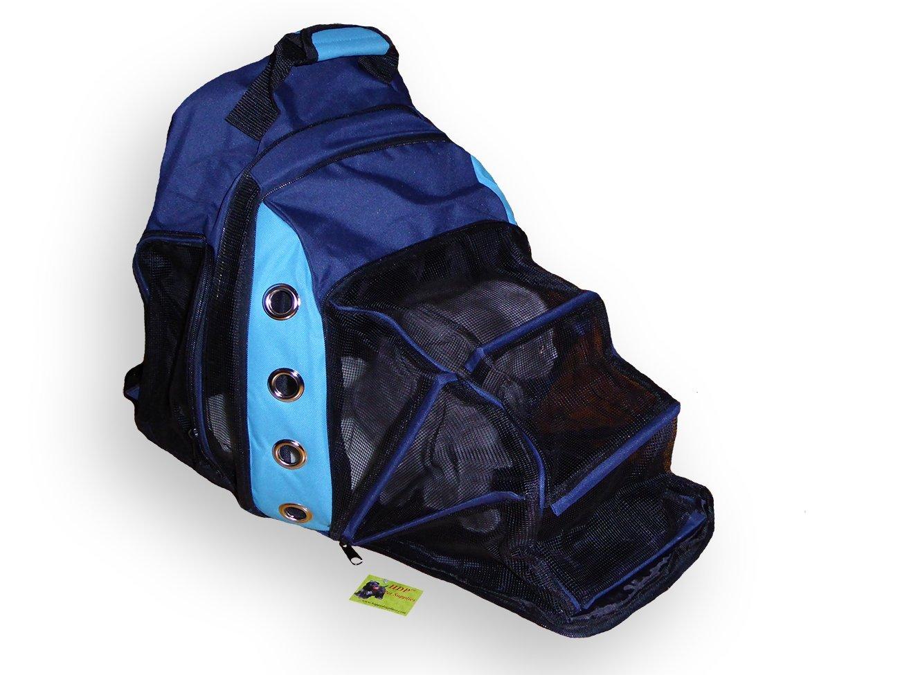 Royal bluee HDP Fashionable Ultimate Backpack Dog Carrier color Royal bluee