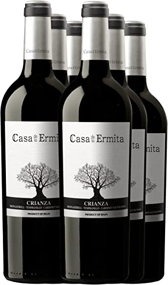 Casa de la Ermita Vino Tinto Crianza - 750 ml [Pack de 6]: Amazon.es: Alimentación y bebidas