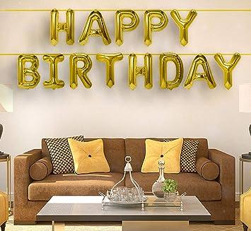 Best,Stuff Gold Aluminum Foil Balloons Banner 16\