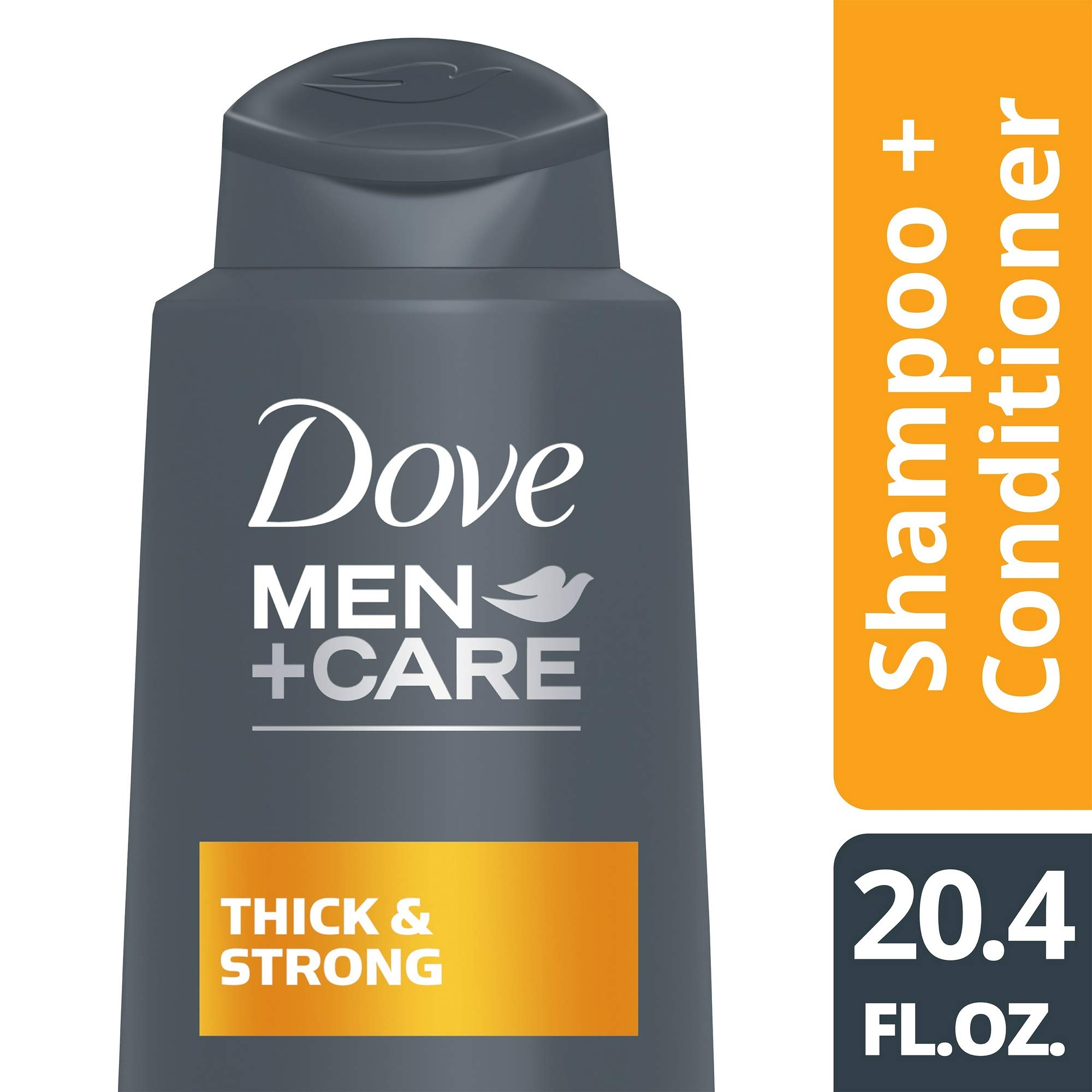 Dove Men+Care Thick and Strong 2 in 1 Shampoo and Conditioner, 20.4 oz