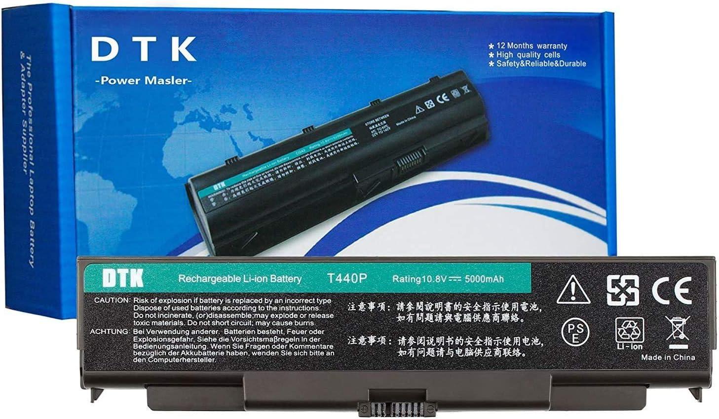 DTK 0C52863 0C52864 New Laptop Battery for Lenovo ThinkPad T440P 3S2P T540P L440 L540 W540 Notebook Computer Battery 10.8V 5000mAh