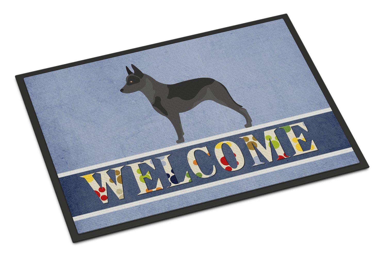 Carolines Treasures Groenendael Belgian Shepherd Christmas Doormat 24hx36w Multicolor