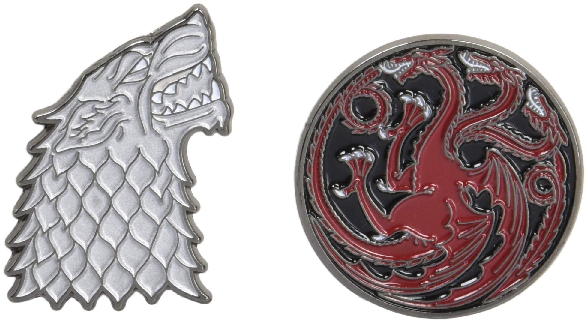 Amazon com: Game of Thrones Twin Pins: Stark and Targaryen