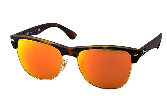 ray ban oversized clubmaster sunglasses  Amazon.com: Ray-Ban CLUBMASTER OVERSIZED - MATTE HAVANA Frame ...