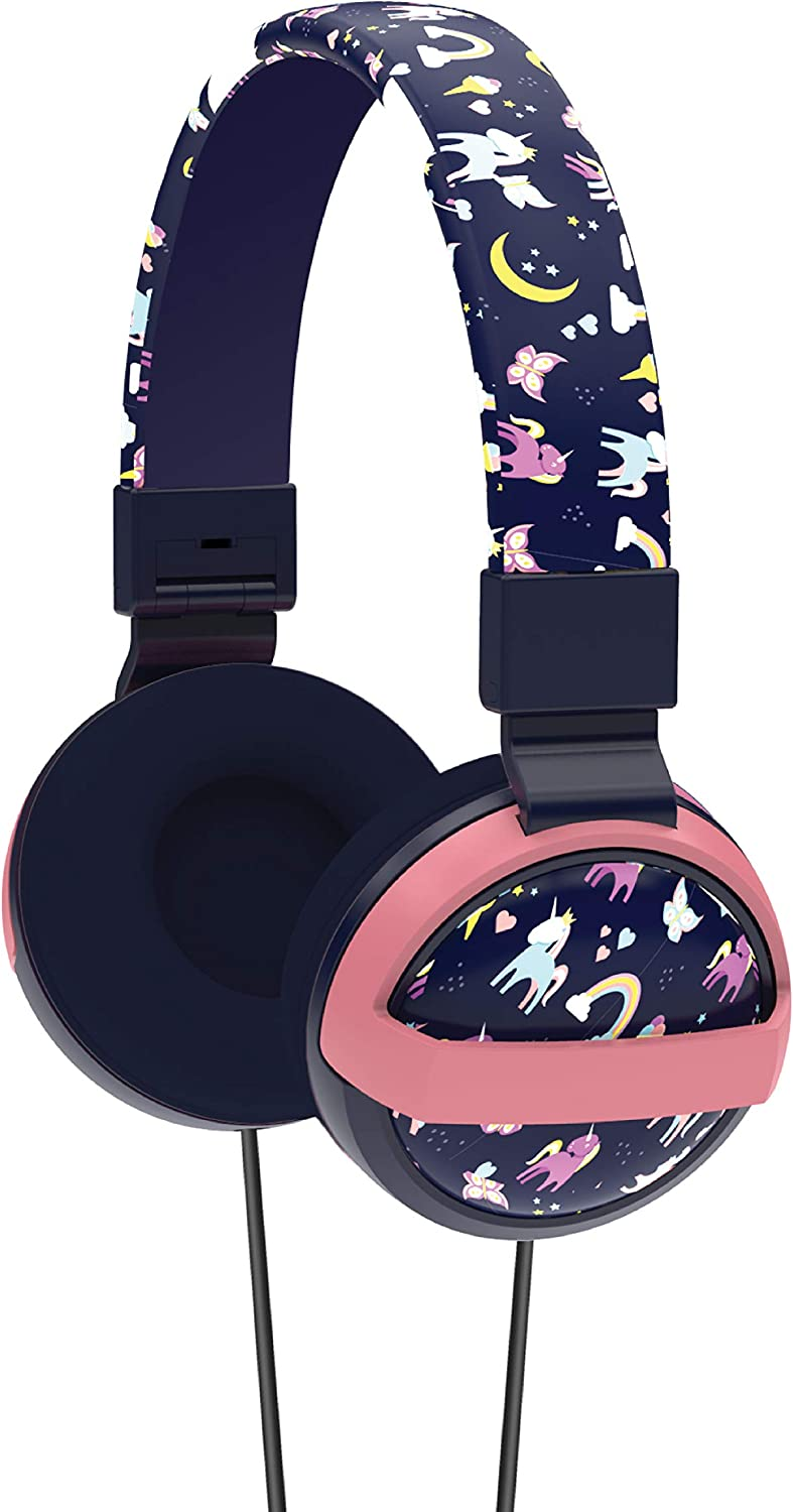 Gabba Goods Premium Safe Sound Printed & Foldable Over The Ear Comfort Padded Stereo Headphones with AUX Cable | Earphones