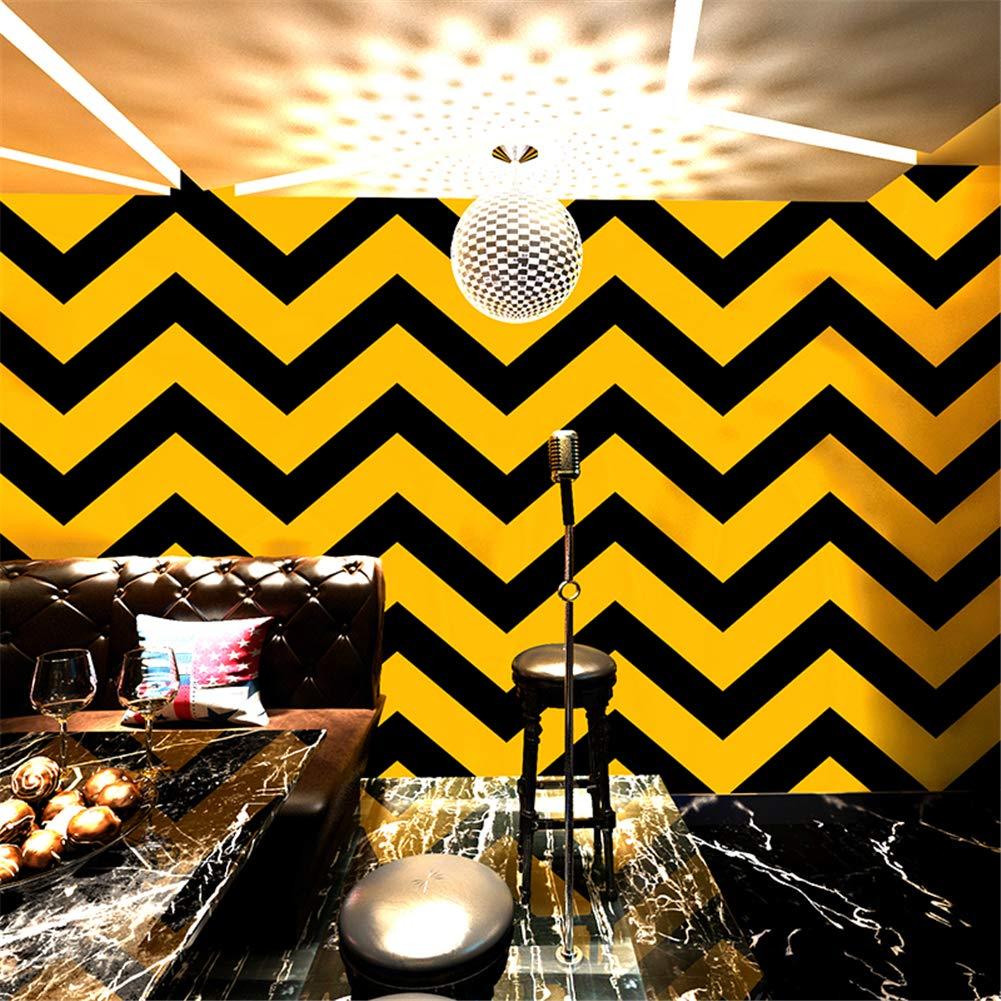 PVC, resistente al agua, papel pintado brillante Papel pintado a rayas Mmmya Amarillo