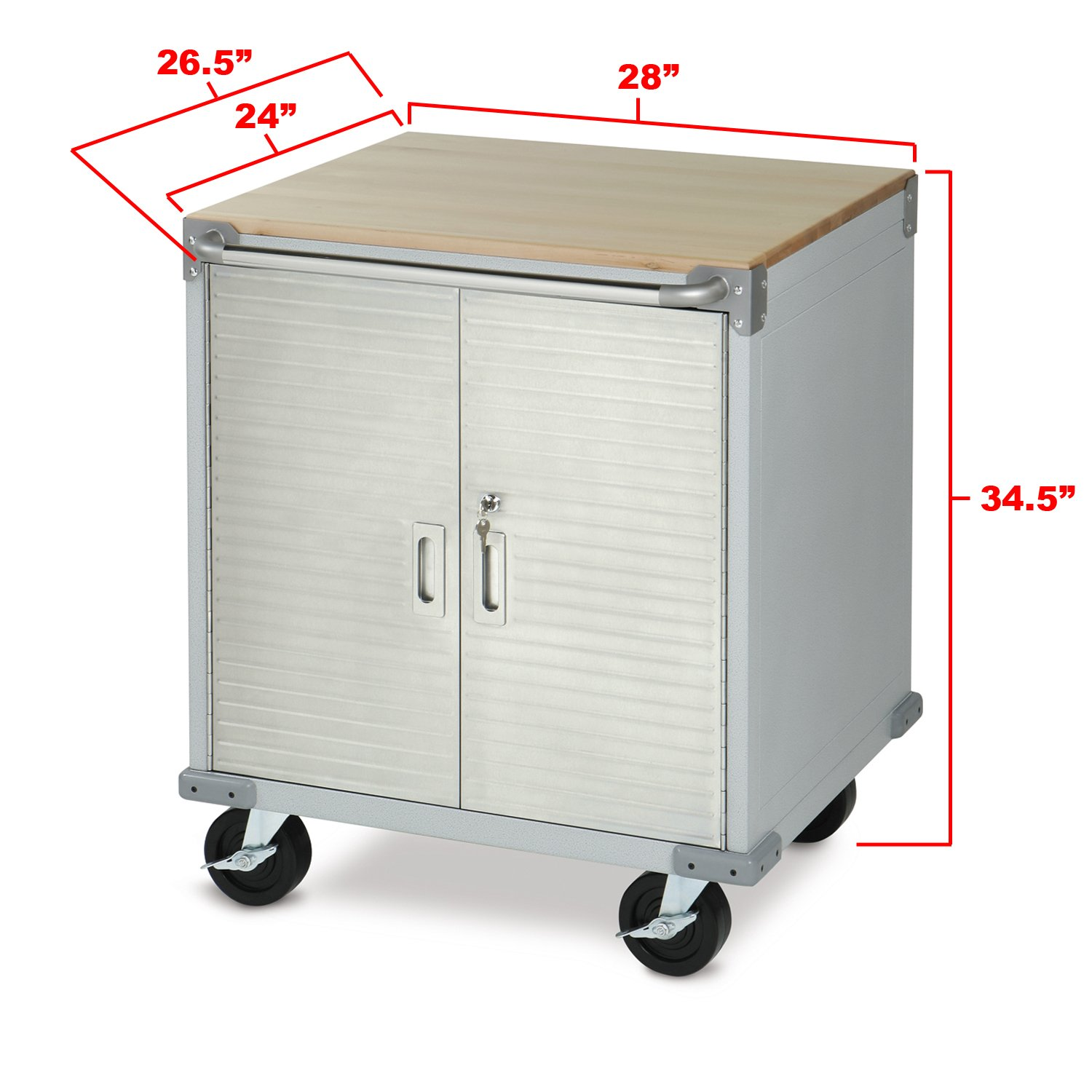 UltraHD Rolling Storage Cabinet by Seville Classics (Image #2)