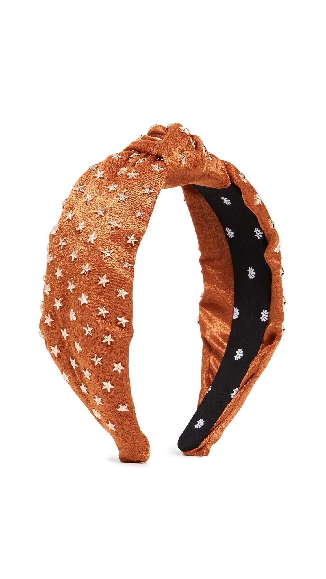 Lele Sadoughi Women's Star Studded Silk Knotted Headband, Copper, Metallic, Bronze, Orange, One Size by Lele Sadoughi