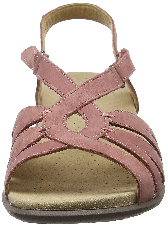 Hotter Damen Flare Offene Sandalen Sandalen Offene mit Keilabsatz Pink (Salmon) 33cee0