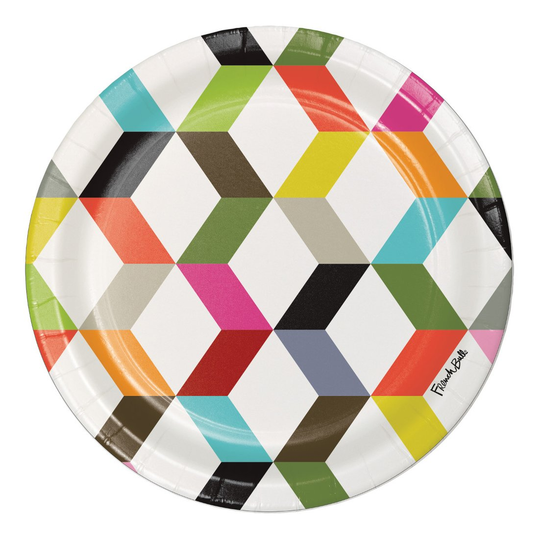 Creative Converting 322120 Dinner Plates, Birthday Cake