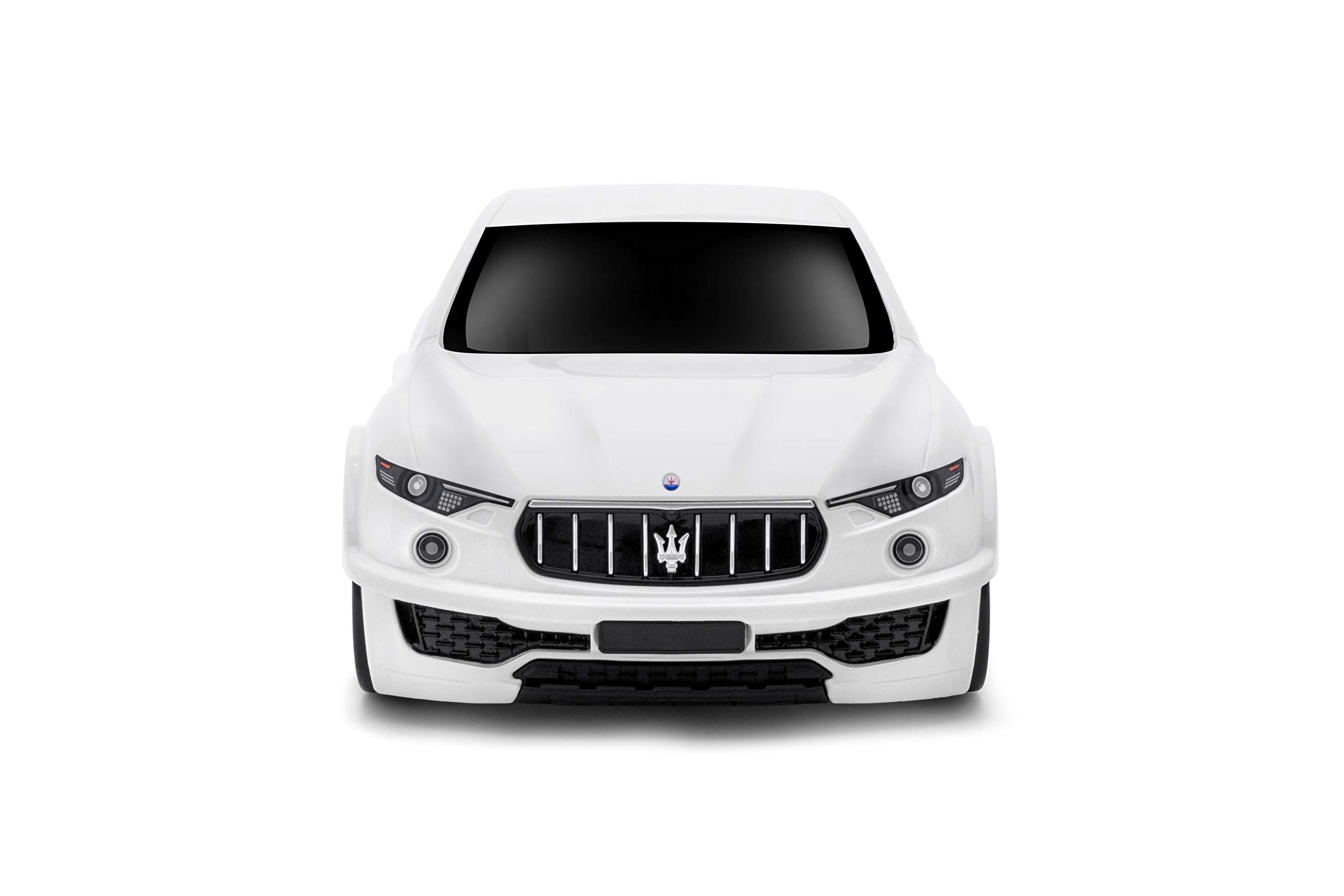 Ridaz Maserati Levante Carry-on Hand Luggage for kids, White Maserati Levante