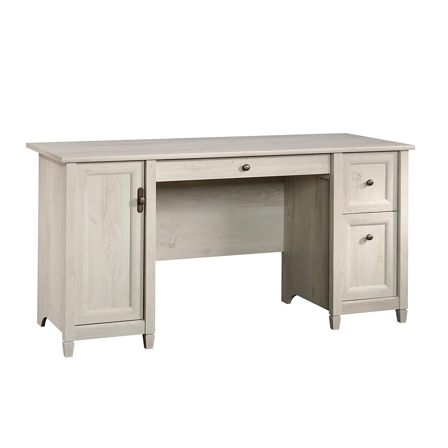 Sauder Edge Water Computer Desk, Chalked Chestnut finish