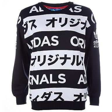 84c52b53921 adidas Originals Womens Womens Allover Print Typo Sweatshirt in Black-White  - 6  adidas Originals  Amazon.co.uk  Clothing