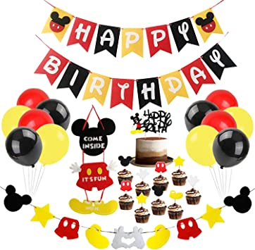 Amazon.com: Mickey Mouse suministros de decoración de fiesta ...