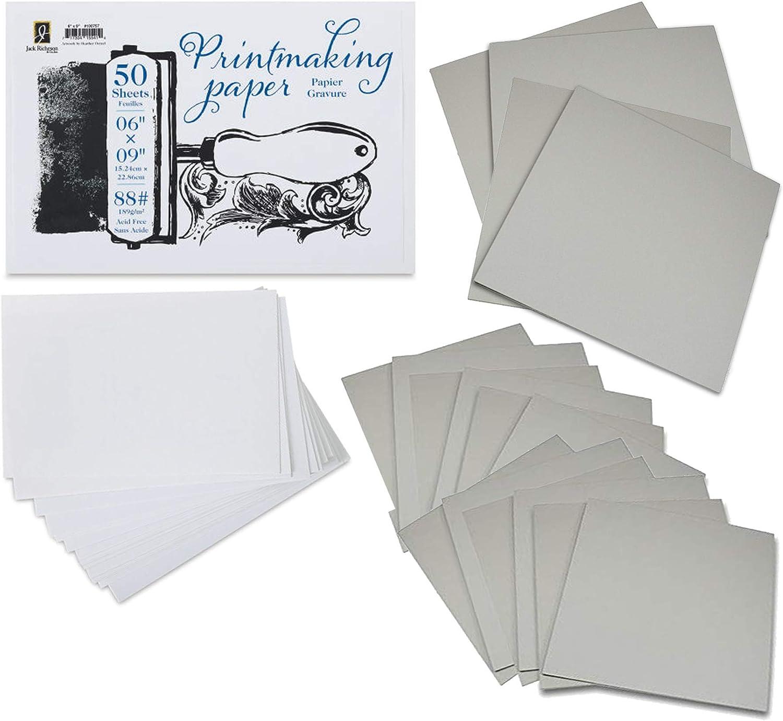 Battleship Gray Traditional Carving Printing Studio 24 Classroom Studio Pack of Firm Sheets Unmounted Artist Printmaking Art Tool Set 2 x 4