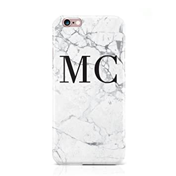 Dyefor personalised marble initials hard phone case cover for apple iphone 6 6s